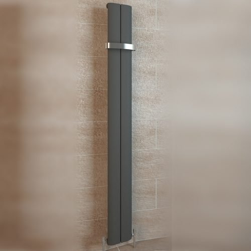Berlini Matt Anthracite Radiator 1800x185