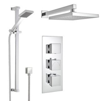 CONCEALED SQR SHOWER V2 WAY