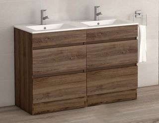 VIENA WALNUT 1200 FLOOR UNIT/BASIN