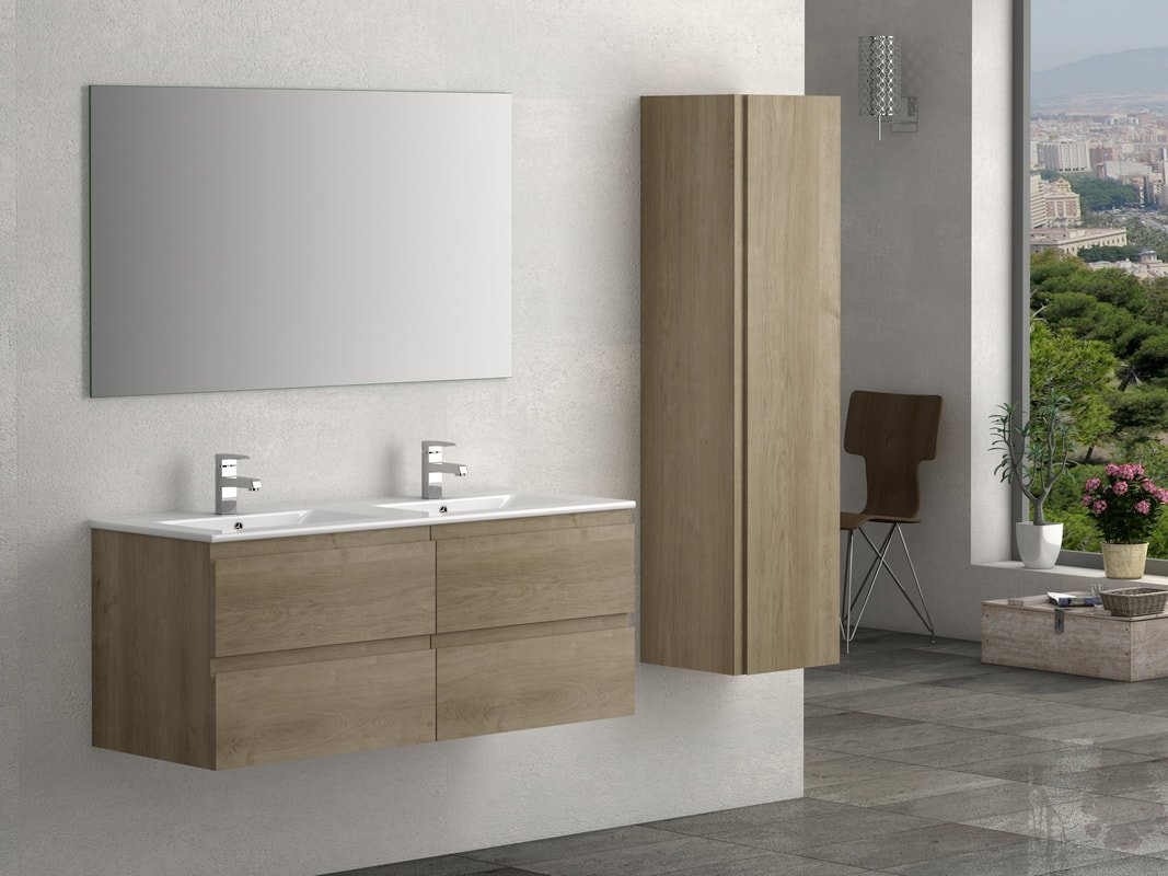 VIENA OAK 1200 WALL HUNG UNIT/BASIN