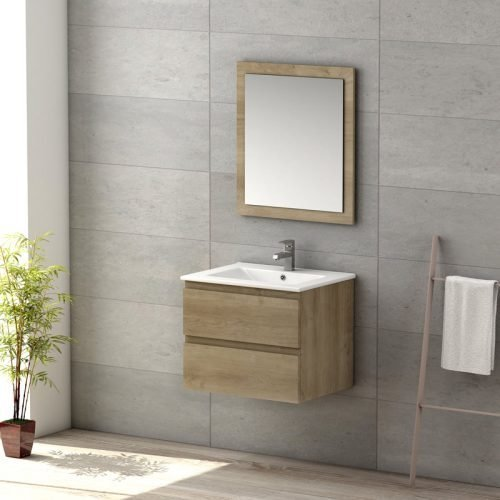 VIENA OAK 600 WALL HUNG UNIT/BASIN